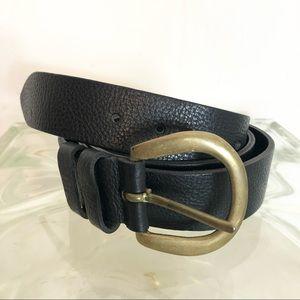 Cole Haan Men's Black belt brass buckle XL ENGLAND